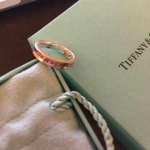 Tiffany & Co 1837 Silver narrow ring